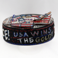 Herb Brooks & Charles Fazzino Signed USA Olympic Hand-Painted Hockey Puck (JSA LOA) at PristineAuction.com