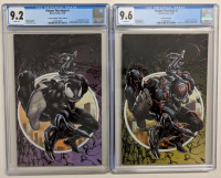 "Lot of (2) 2018 ""Venom First Host"" Issue #1 Marvel Comic Books with 2018 NYCC Exclusive Clayton Crain Variant (CGC 9.2) & Scorpion Comics Exclusive Clayton Crain Limited Variant (CGC 9.6) at PristineAuction.com"