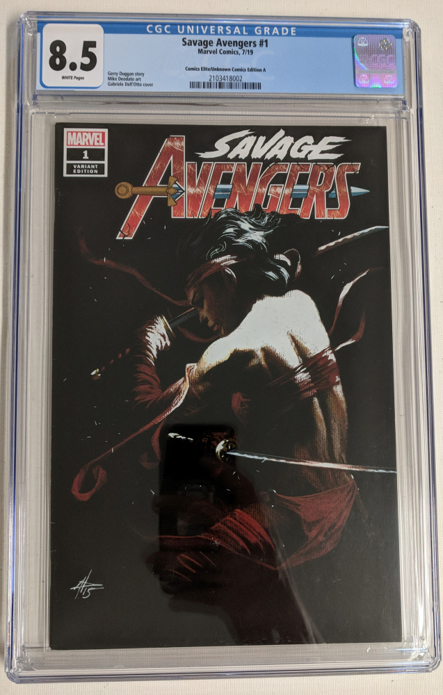 """2019 """"Savage Avengers"""" Issue #1 Gabriel Dell'Otto Limited Variant Marvel Comic Book (CGC 8.5) at PristineAuction.com"""