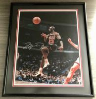 Michael Jordan Signed Bulls 16x20 Custom Framed LE Photo (UDA COA) at PristineAuction.com