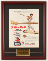 Ted Williams Signed Original 15.25x19.5 Custom Framed Ad Display (JSA ALOA) at PristineAuction.com