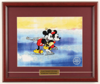 """Walt Disney's """"Mickey & Minnie Mouse on Ice"""" 16x19 Custom Framed Hand-Painted Animation Serigraph Display at PristineAuction.com"""
