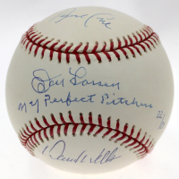 "Yankees Perfect Game Pitchers LE OML Baseball Signed by (3) with Don Larsen, David Wells & David Cone Inscribed ""NY Perfect Pitchers"" (Steiner COA) at PristineAuction.com"