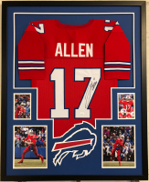 Josh Allen Signed 34x42 Custom Framed Jersey (JSA COA) at PristineAuction.com