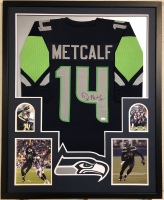 D.K. Metcalf Signed 34x42 Custom Framed Jersey (JSA COA) at PristineAuction.com