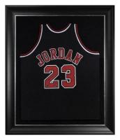 "Michael Jordan Signed LE Bulls 37.5x45 Custom Framed Jersey Inscribed ""2009 HOF"" (UDA COA) at PristineAuction.com"