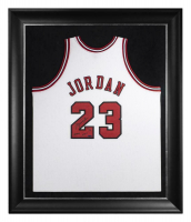 "Michael Jordan Signed Bulls 37.5x45 Custom Framed LE Jersey Inscribed ""2009 HOF"" (UDA COA) at PristineAuction.com"