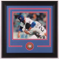 Nolan Ryan Signed Rangers 16x16 Custom Framed Photo (AIV COA & Ryan Hologram) at PristineAuction.com