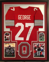 Eddie George Signed 35x43 Custom Framed Jersey (Beckett COA) at PristineAuction.com