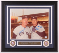 Mickey Mantle & Whitey Ford Signed Yankees 18x20 Custom Framed Photo Display (PSA LOA) at PristineAuction.com