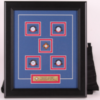 "1999 ""Cooperstown Celebrates"" Hall Of Fame Induction Day LE 12x14 Custom Framed Commemorative Pin Set with (5) Limited Edition Pins at PristineAuction.com"
