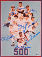 """The 500 Home Run Club"" 18x22 Custom Framed Photo Display Signed by (10) with Ted Williams, Mickey Mantle, Harmon Killebrew, Frank Robinson (Beckett LOA) at PristineAuction.com"