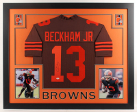 Odell Beckham Jr. Signed 35x43 Custom Framed Jersey (JSA COA) at PristineAuction.com