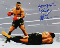 "Mike Tyson Signed 16x20 Photo Inscribed ""Youngest Champ"" (PSA COA) at PristineAuction.com"
