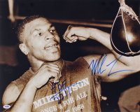 "Mike Tyson Signed 16x20 Photo Inscribed ""HOF 2011"" (PSA COA) at PristineAuction.com"