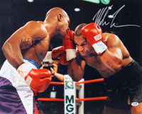 Mike Tyson & Evander Holyfield Signed 16x20 Photo (PSA COA) at PristineAuction.com