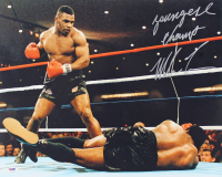 """Mike Tyson Signed 16x20 Photo Inscribed """"Youngest Champ"""" (PSA COA) at PristineAuction.com"""