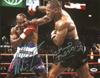 Mike Tyson & Evander Holyfield Signed 11x14 Photo (PSA COA) at PristineAuction.com
