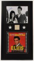 Elvis Presley & Priscilla Presley Signed 20.25x37.25 Custom Framed Cut & Photo Display (Beckett LOA & JSA COA) at PristineAuction.com