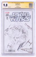 Alex Ross Signed Star Wars 2015 Issue #1 Sketch Variant Cover (CGC Encapsulated - 9.8) at PristineAuction.com
