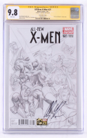 Alex Ross Signed All-New X-Men 2014 Issue #27 Sketch Variant Cover (CGC Encapsulated - 9.8) at PristineAuction.com