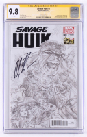 Alex Ross Signed Savage Hulk 2014 Issue #1 Sketch Variant Cover (CGC Encapsulated - 9.8) at PristineAuction.com