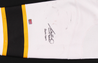 """Adam McQuaid Signed Bruins Game-Worn Sock Inscribed """"Game Worn"""" (YSMS COA) at PristineAuction.com"""