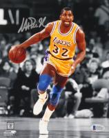 Magic Johnson Signed Lakers 8x10 Photo (Beckett COA) at PristineAuction.com