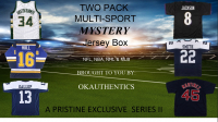 OKAUTHENTICS Two Pack Multi-Sport Jersey Mystery Box Series III at PristineAuction.com