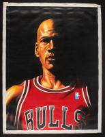 "Hector Monroy Signed ""Michael Jordan"" Bulls 26x34 Original Oil Painting On Canvas at PristineAuction.com"