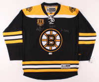 Brad Marchand, Patrice Bergeron & David Pastrnak Signed Bruins Season Ticket Holder Jersey (The Perfection Line Hologram) at PristineAuction.com