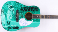 "Chuck Bednarik Signed 39"" Huntington Acoustic Guitar Inscribed ""Eagle 1949-62"" (PSA COA) at PristineAuction.com"