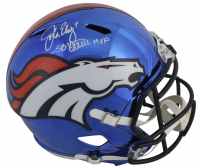 "John Elway Signed Broncos Full-Size Chrome Speed Helmet Inscribed ""SB XXXIII MVP"" (Beckett COA) at PristineAuction.com"