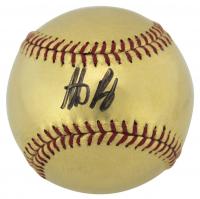 Anthony Rizzo Signed OML Gold Baseball (Fanatics Hologram) at PristineAuction.com