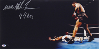 "Mike Tyson Signed 12x24 Photo Inscribe ""44 KO's"" & ""Iron"" (PSA COA) at PristineAuction.com"