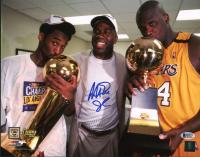 Magic Johnson Signed Lakers 11x14 Photo (Beckett COA) at PristineAuction.com