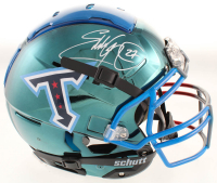 Eddie George Signed Titans Full-Size Authentic On-Field Chrome F7 Helmet (Beckett COA) at PristineAuction.com