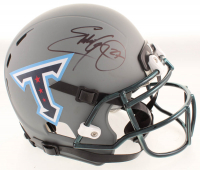 Eddie George Signed Titans Full-Size Authentic On-Field Matte Gray Helmet (Beckett COA) at PristineAuction.com