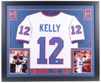 Jim Kelly Signed 35.5x43.5 Custom Framed Jersey (JSA COA) at PristineAuction.com