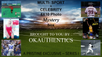 OKAUTHENTICS Multi-sport & Celebrity 8x10 Photo Mystery Box Series I at PristineAuction.com