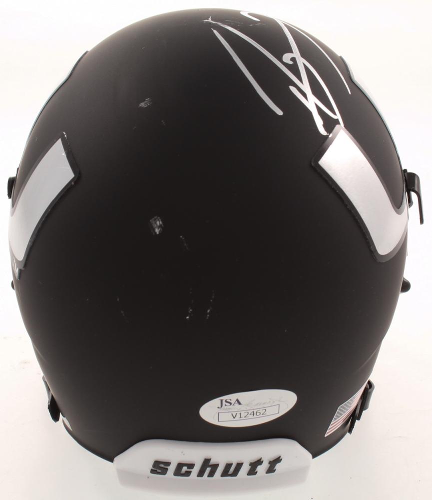 Ray Lewis Autographed Miami Hurricanes Mini Helmet