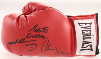 Sugar Ray Leonard, Tommy Hearns & Roberto Duran Signed Everlast Boxing Glove (Beckett COA) at PristineAuction.com