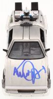 "Michael J. Fox Signed ""Back to the Future II"" DeLorean Time Machine 1:24 Scale Die-Cast Car (Beckett COA) at PristineAuction.com"