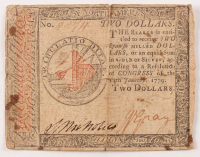 1779 $2 Two-Dollar - Continental - Colonial Currency Note at PristineAuction.com