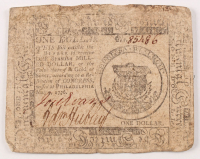 1776 $1 One-Dollar - Continental - Colonial Currency Note at PristineAuction.com