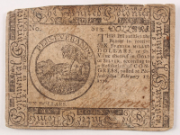 1776 $6 Six-Dollar - Continental - Colonial Currency Note at PristineAuction.com