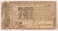 1774 Two-Ninths of a Dollar - Maryland - Colonial Currency Note at PristineAuction.com