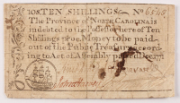 1771 10s. Ten-Shillings - North Carolina - Colonial Currency Note at PristineAuction.com