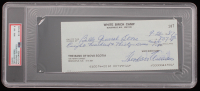 "Theodore ""Ted"" Williams Full Name Signed Personal Bank Check (PSA Encapsulated) at PristineAuction.com"