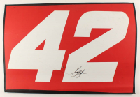 Kyle Larson Signed Race-Used #42 Full Door Sheet Metal (PA COA) at PristineAuction.com